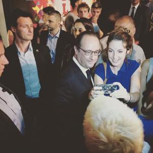 François Hollande Fnac Live 2015